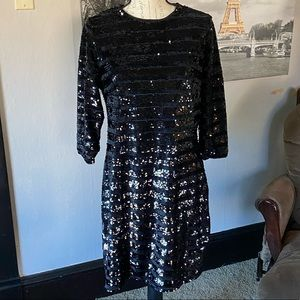 NWT INC Glitz black dress size petite large